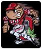 OSU Ohio State University Brutus Football player, O Monogram and Buckeye Magnet