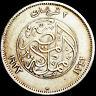 EGYPT - BIRMINGHAM MINT - FUAD I - TWO PIASTRES AH1342 (1923) SILVER COIN  #EGY7