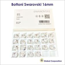24 BOTTONI SWAROVSKI ORIGINALI ORIGINALE 16mm CRISTALLO ART. 3015 CRYSTAL CUCIRE