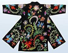Gorgeous Uzbek Fully Silk Embroidered Robe From Bukhara A5086