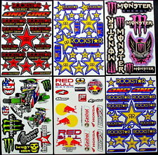 6 Sheets scooter motocross Stickers quad mx DIRT Energy Rockstar BMX Bike AKD