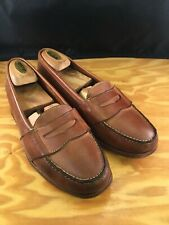 Polo Ralph Lauren Brown Leather Full Strap Loafers Dress Shoes Size 10 D (Mens)