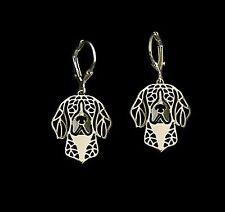 Beagle Dog Earrings-Fashion Jewellery Gold Plated, Leverback Hook