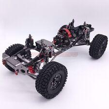 CNC Aluminum And Carbon Frame AXIAL SCX10 Chassis 313mm Wheelbase Gun Metal