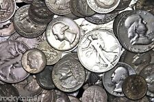$100.00 Face Value Dimes, Quarters and Half Dollars Mixed 90% Silver USA Coins