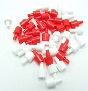 Battleship Replacement Pegs 20 White & 20 Red Spare Game Parts Pieces 2011 Shiny