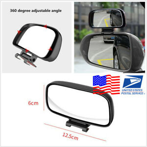 Car Adjustable Wide Angle Side Rear Mirror Blind Spot Auxiliary Mirror US Stock