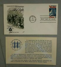 US FDC #1312 Bill Of Rights 1966 5c.