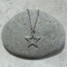 Tiny Star Pendant Necklace Jewelry Stainless Steel