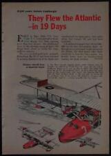 1st Transatlantic Flight Curtiss Seaplane NC-4 1964 Historical cartoon