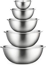Premium Stainless Steel Mixing Bowls - Set of 5 - Mixing Bowl Set, Kitchen Bowls