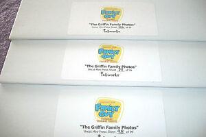 "INKWORKS  ""FAMILY GUY""   FULL SIZE UNCUT MINI PRESS SHEET"