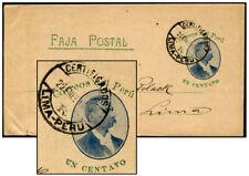 Peru 1¢ Romana Ps Wrapper Lima Jan 22 1903 Moll 7