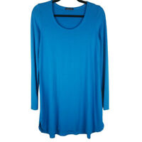 Eileen Fisher Sky Blue Tunic Top Long Sleeve Size Small