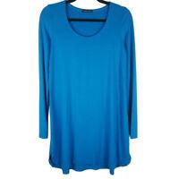 Eileen Fisher Sky Blue Tunic Top Long Sleeve Size Medium