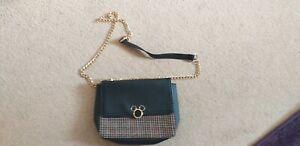 Disney Mickey Mouse Handbag Black/tweed/gold
