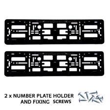 2 NUMERO TARGA CIRCONDA Holder Frame per ABT Tuning Autohaus VW + Kit di fissaggio