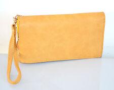 PORTAFOGLIO BORSELLO donna beige giallo zip oro borsellino pochette clutch A12