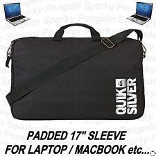"""QUIKSILVER PADDED 17"""" LAPTOP SLEEVE SCHOOL STUDENT BAG SATCHEL FOR MACBOOK IPAD"""