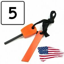 5PCS mini Emergency Flint Fire Starter ferro Rod Magnesium camping tool kits BOB