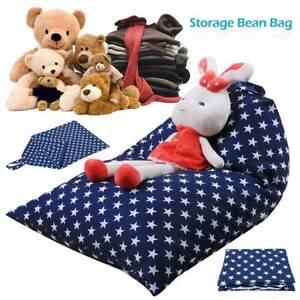 Large Stuffed Animal Toy Storage Bean Bag Kid Cover Soft Seat Chair Organiser
