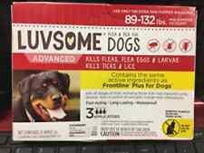 Luvsome Large Dogs Kills Fleas Ticks eggs Lice 89-132 lbs 3 Applications