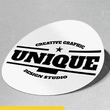 Bulk Circle 50 mm Sticker Custom Print Vinyl Your Design Decals Labels Logo