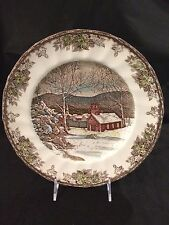 """JOHNSON BROTHERS FRIENDLY VILLAGE 10"""" LG DINNER PLATE THE SCHOOL HOUSE  ENGLAND!"""