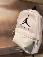 Nike Air Jordan Jumpman Backpack Laptop Case Padded White Black NEW