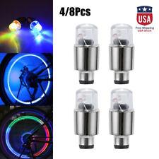 4/8PCS LED Wheel Tire Tyre Valve Caps Neon Light for Car Motorcycle Bike Decor
