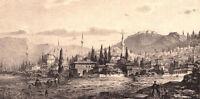 Turkey IZMIR HISAR MOSQUE ~ Old 1800s Ottoman Architecture Landscape Art Print