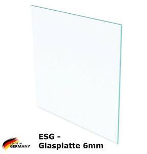 ESG Sicherheitsglas - Glasplatte/Glasscheibe/Schutzglas/Ablage - 6mm Stärke