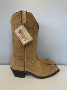 Laredo Brown Suede Cowboy Western Boots 7032 Mens Size 8D
