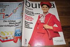 BURDA MODE 3/1969 -- 70 Schnitte von 36-52 / Elegante Ensembles für Untersetzte