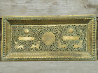 Tray Pierced Brass Indian Middle East  Sun   Lion dsesign   C1900 1910 Unusual