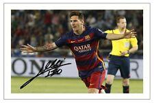 Lionel messi signé fc barcelone football d'impression photo