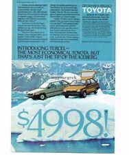 1983 Toyota Tercel 3-door 5-door Liftback Hatchback Iceberg Vtg Print Ad
