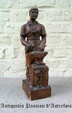 B20151796 - Forgeron en bois - 40 cm de hauteur - Très bon état