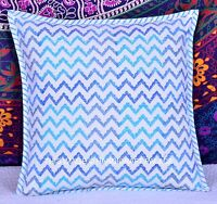 """16"""" Indian Cotton Hand Block Printed Pillow Case Decorative Cushion Cover Throw"""
