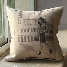 Living Room Pictorial 100% Linen Decorative Cushions & Pillows