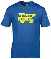 Personalised Boys Birthday T-Shirt Truck Boys Kids T-Shirt Tee Top