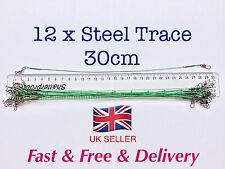 Steel Fishing Trace Lures Leader Wire Steel  30cm         *****UK SELLER*****