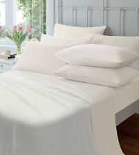 Catherine Lansfield Flannelette White Fitted Sheet - Super King - SX 487