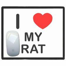 I Love Corazón My Rata - Fino Pictoral Plástico Ratón Libreta Tapete BadgeBeast