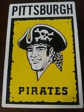 "Vintage MLB PITTSBURGH PIRATES Team Logo Cardboard Poster 11"" x 7"""