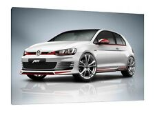 VW Golf ABT - 30x20 Inch Canvas Art - Volkswagen Framed Picture Print
