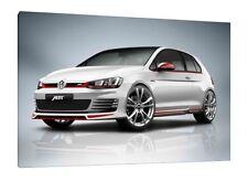 VW Golf ABT - 30x20 pulgadas lienzo arte enmarcado cuadro impresión-Volkswagen