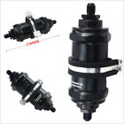 1*AN6-Inlet/Outlet Inline Fuel Filter Black Aluminum With E85 Ethanol 100 Micron