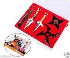 Naruto Shuriken Minato Kunai Zabuza Weapons With Shelf Cosplay props set 5pcs