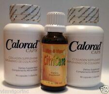 2 CALORAD MG Caps + 1 CitriCare; ORIG Formulator; LOSE WEIGHT Collagen Candida